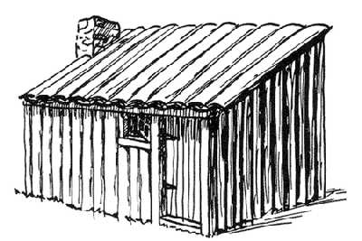 Sketch of a simple habitant cabin